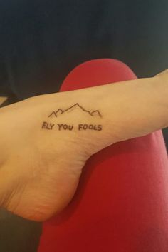 Stick and poke  Lord of the rings