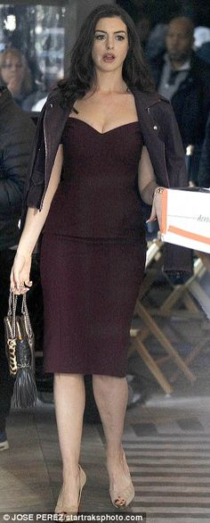 Be beautiful in burgundy with a dress like Anne's #DailyMail  Click 'Visit' to buy now