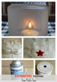 Jar craft patriotic votive coil