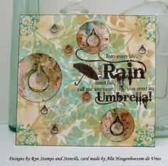 Designsbyryn.com stamps and stencils, card made by Alie Hoogenboezem-de Vries