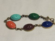 """1960s scarab bracelet ~ one of my first """"big girl"""" pieces"""