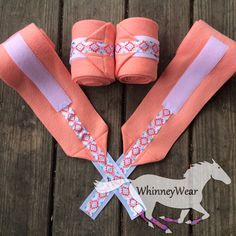 Coral & Aztec polo wraps by WhinneyWear  www.whinneywear.com