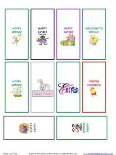 FREE Miniature Chocolate Candy Bar Wrappers for April /Spr