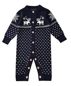 a1acb0f19a255 Product review for Aokaixin Unisex Newborn Long Sleeve Christmas Sweaters  Romper for Baby Boys and Girls – Winter   Harmattan Sweaters
