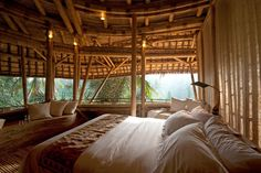 A bedroom in Bali's Green House development by AD Innovator Elora Hardy. Pic by Rio Helmi