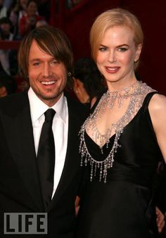 Academy favorite Kidman smiles beside her husband and fellow Aussie, country star Keith Urban, in 2008.