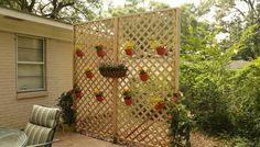 Wood Lattice Privacy Wall