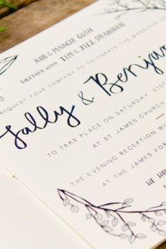 Illustrated South African Wedding Invitations by Bells + Whistles via Oh So Beautiful Paper