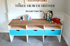DIY Three Drawer Dresser with free plans