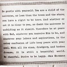 With all its sham, drudgery, and broken dreams, it is still a beautiful world <3