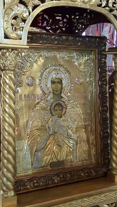 Icon of Panagia Eleftherotria Reliquary / Religious Icons More Pins Like This At : FOSTERGINGER @ Pinterest