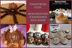 Postres inspirados en los famosos bombones Ferrero Rocher. ¡Descúbrelos!
