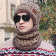 ec8032b3358f1 Winter Set  Hat Scarf (6 colors). Knit BeanieScarf HatBeanie HatsBeanies BalaclavaEarmuffsFashion ...
