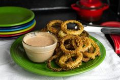 Oven-Fried Onion Rings with Comeback Sauce - Chattavore