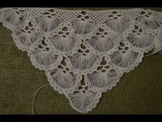 """""""Турецкая шаль, связанная на карточке"""" (Turkish shawl, tied on the card...."""