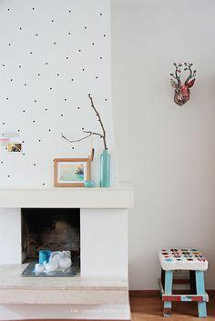pattern above fireplace