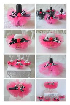 Kate Spade Inspired Party Ideas - Kate Spade Inspired Shower Ideas - Kate Spade Inspired Favors - Paris Party Favor - Paris Party - Paris Shower - FairyTotes Couture on Etsy Unique Baby Shower Gifts, Baby Shower Favors, Baby Shower Decorations, Sweet 16 Party Favors, Sweet 16 Parties, Nail Polish Favors, Kate Spade Bridal, Barbie Birthday Party, Bridal Shower Centerpieces