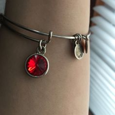 Ruby Alex and Ani Ruby birth stone (July) silver Alex and Ani. Perfect for a birthday gift Alex & Ani Jewelry Bracelets