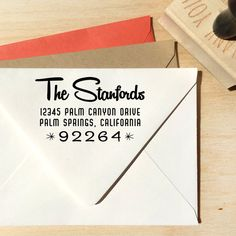 Self Inking Stamp Address Stamp Calligraphy Personalized Rubber Address Stamp T247 Gift Stamp for Address Labels Rubber Stamp