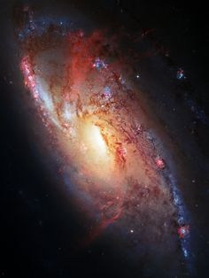 SAUCER KOMMAND — just–space: Spiral Galaxy M106 js