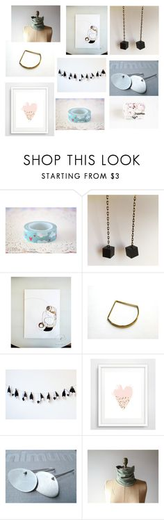 """""""October Etsy Gifts"""" by sotiria-vasileiou ❤ liked on Polyvore featuring WALL"""