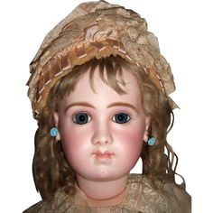 $17,000.00)  RARE Jumeau EJA Antique Doll with Antique Dress/Shoes/Wig - Layaway