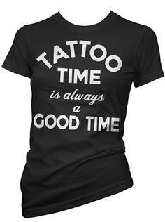 """Women's """"Tattoo Time"""" Tee by Cartel Ink (Black) #InkedShop #InkedMag #Tattoo…"""