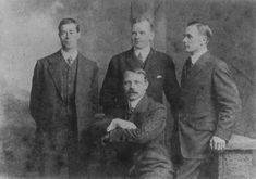 Titanic's surviving officers from left to right: Fifth Officer Harold G. Lowe, Second Officer Charles H. Lightoller,   Third Officer Herbert J. Pitman (seated) and Fourth Officer Joseph G. Boxhall.