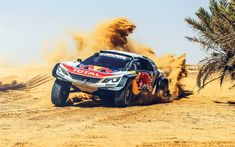Are you ready for Rally Dakar Find out more about the four major competitive vehicle classes that take part in next years off-road endurance event. Peugeot 3008, Red Bull, Sport Cars, Race Cars, Bull Tv, Rallye Raid, Hors Route, Sports Clips, Rally Car
