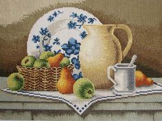 """Completed Cross Stitch 100% Hand-made Design count: 190sts wide X 142sts high  Fabric Size: 47cm X 38cm / Inch: 18.5"""" X 15""""  Fabric: 11-count white aida"""