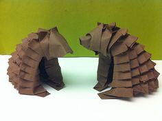 Bear origami #bear #origami #Japan…