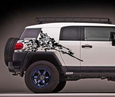 Toyota FJ cruiser side Mud Splash vinyl decals stickers #2.jpg