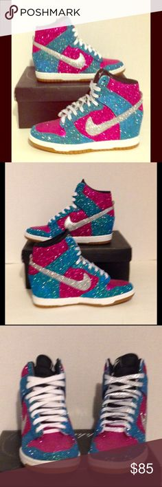 Custom Glitter Women s Nike Dunk Sky Hi Nike Dunk Sky Hi - Women s For the  days a346bcb851