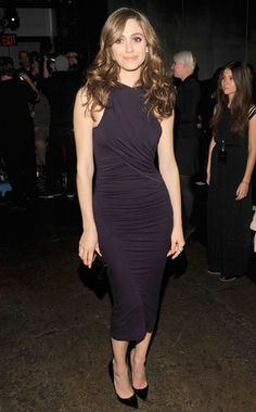 This plum dress can be be a great LBD. Oops, LPD! LOL