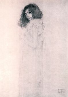 Gustav Klimt Portrait of a Young Woman, 1896, private collection.