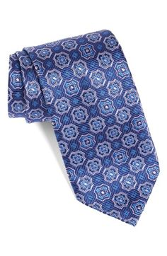 David+Donahue+Medallion+Silk+Tie+available+at+#Nordstrom