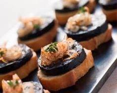 Toast au boudin noir et fondue d'oignons pour l'apéritif