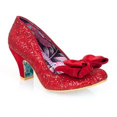 Irregular Choice Ban Joe Red Shoes Glitter eshoes eshoesdirect www.eshoesdirect.co.uk