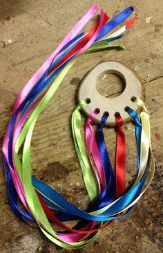 Items similar to Handcrafted Dancing Ribbons Made out of Natural Timber Treebranches. on Etsy Craft Activities For Kids, Crafts For Kids, How To Make Ribbon, Cool Toys, Early Childhood, Kids Playing, Making Out, Ribbons, Dancing