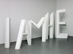 Michael Parekowhai, The Indefinite Article, plywood, paint // Auckland Art Gallery. Auckland Art Gallery, New Zealand Art, Nz Art, Writing Art, Installation Art, Art Installations, European Paintings, Present Day, Large Art