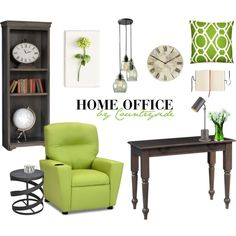 Van Buren Home Office by countryside-amish-furniture on Polyvore featuring interior, interiors, interior design, home, home decor, interior decorating, Andrew Martin, Currey & Company, Pottery Barn and Tommy Mitchell