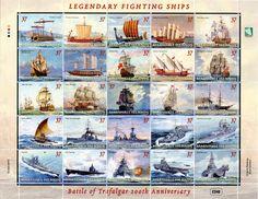 Sello: Battle of Trafalgar Anniversary (Islas Marshall) (Anniversaries and Events) Mi:MH 868 Marshall Islands, Yahoo Images, Postage Stamps, Sailing Ships, Vikings, Taj Mahal, Image Search, Battle, Anniversary