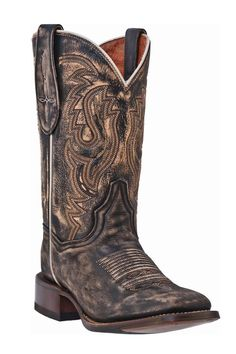 Dan Post Women's Dry Creek Vintage Brown Square Toe Cowgirl Boots. These are beautiful!