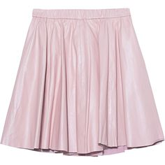 2NDDAY Meggy Metallic Candyfloss // Pleated lambskin skirt (4.813.830 IDR) ❤ liked on Polyvore featuring skirts, pleated flare skirt, flared skirt, pink pleated skirt, flared pleated skirt and pleated skirt