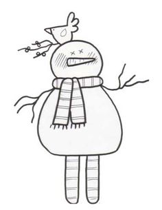 Snowfella Snowman Coloring Page