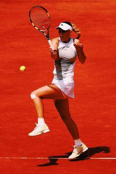 Caroline Wozniacki playing in Madrid 2015 #WTA #Wozniacki #Madrid Tennis Dress, Tennis Clothes, Tennis Outfits, Tennis Association, Professional Tennis Players, Caroline Wozniacki, Tennis Players Female, Tennis Fashion, Tennis Stars