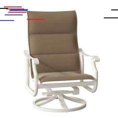 Tropitone Montreux Swivel Patio Dining Chair Frame Color: Parchment, Seat Color: Rincon