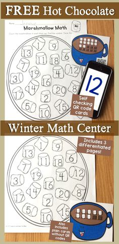 Practice numbers to number sense, & counting skills this winter with FREE differentiated ten frame task cards & pages that can be used as a small group activity, center activity, or an around the room (write the room, SCOOT) activity. Teen Numbers, Math Numbers, Kindergarten Freebies, Kindergarten Activities, Preschool Learning, Teaching Math, Teaching Ideas, Activity Centers, Math Centers