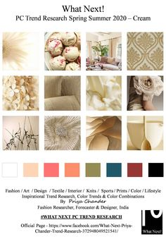 #Cream #creamcolor #SS2020 #summercolors #springsummer2020 #fashionforecasting #NYFW #LFW #PFW #MFW #fashionweek #fashionforecast #fashiontrends #floralprint #menswear #textiles #womenswear #kidswear #textileart #colorforecast #homedecor #fashionindustry #fashionresearch #trendsetter #fashioninfluencer #moodboard #fashiondesigner #forecasting #floralpaintings #fashionfabrics #couture #prints #ADcampaign #interiors #fashiontrends #colorforecast