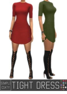 TESTED - WORKS TIGHT DRESS V2 at Simpliciaty via Sims 4 Updates